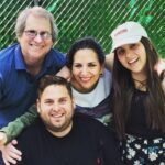 Jonah Hill With His Father, Mother And Sister