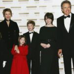 Annette Bening With Her Husband And Children