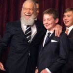David Letterman With His Son