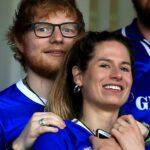 Ed Sheeran With His Wife