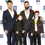 Ricky Martin With His Spouse And Children