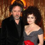Tim Burton With His Wife