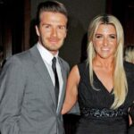 David Beckham With His Sister Joanne Beckham