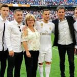 Eden Hazard With His Parents And Brothers