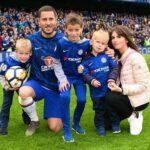 Eden Hazard With His Wife And Children
