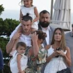 Gareth Bale With His Wife And Children