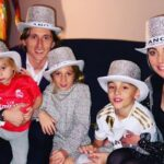 Luka Modric With His Wife And Children