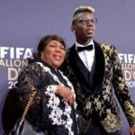 Paul Pogba With His Mother