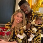 Paul Pogba With His Wife And Son