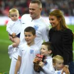 Wayne Rooney With His Wife And Children