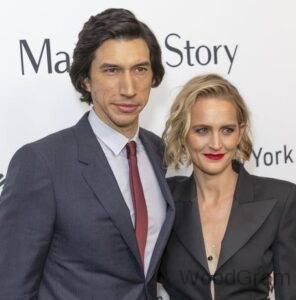 Adam Driver with his wife Joanne Ducker