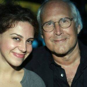 Chevy Chase with daughter Caley Chase