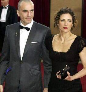Daniel Day-Lewis with his wife Rebecca