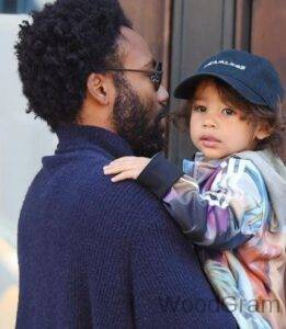 Donald Glover with his son Legend