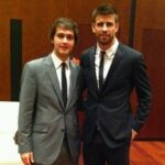 Gerard Pique With His Brother