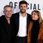 Gerard Pique With His Parents