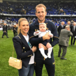 Harry Kane With His Girlfriend And Daughter