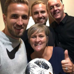Harry Kane With His Parents And Brother