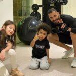 Karim Benzema With His Children