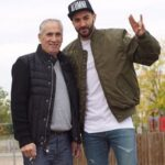 Karim Benzema With His Father