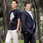 Mesut Ozil With His Father