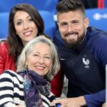 Olivier Giroud With His Girlfriend And Mother