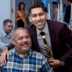 Roberto Firmino With His Father
