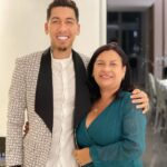 Roberto Firmino With His Mother