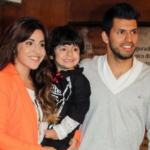Sergio Agüero With His Wife And Son
