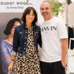 Andrés Iniesta With His Wife