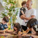 Andrés Iniesta With His Wife And Children