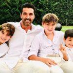 Gianluigi Buffon With His Children