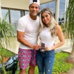 Hulk (Footballer) With His Wife Camila Angelo