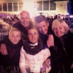 Mario Gotze With His Parents And Brothers