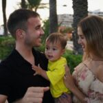 Mario Gotze With His Wife And Son
