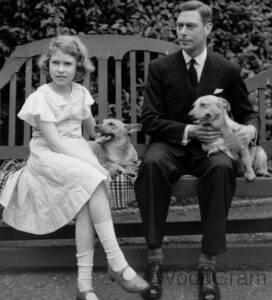 Queen Elizabeth II with her father King George VI
